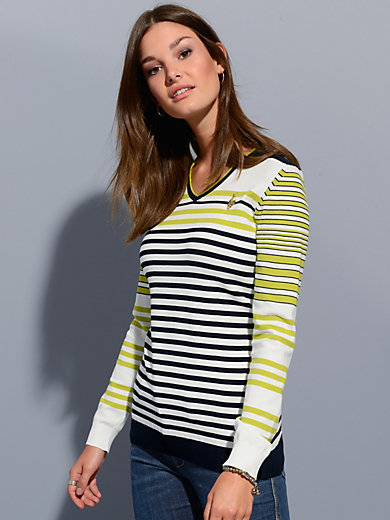 Sportalm Kitzbühel - Striped v-neck jumper