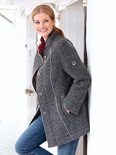 Steinbock - Long-Jacke mit Stehkragen