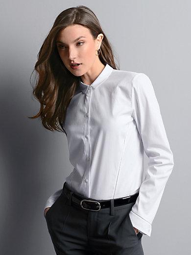 Strenesse - Bluse mit Ziernähten und Lochmuster im Vorderteil