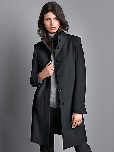 Mantel mit stehkragen schwarz damen