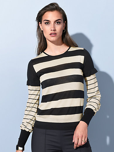 Strenesse - Round neck jumper in new milled wool and cashmere