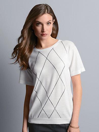 Strenesse rundhals pullover aus 100 schurwolle merino for Merinos grafik