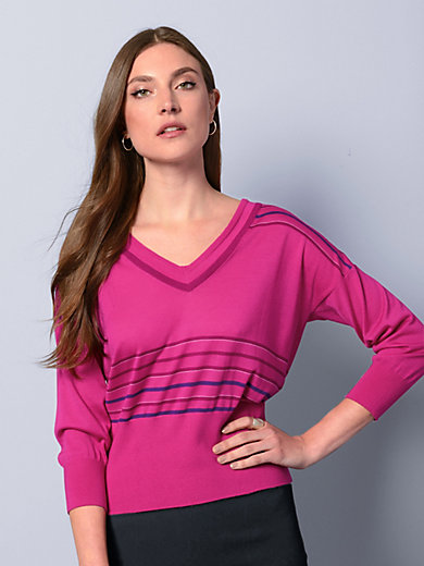 Strenesse - V-neck jumper with 3/4-length sleeves