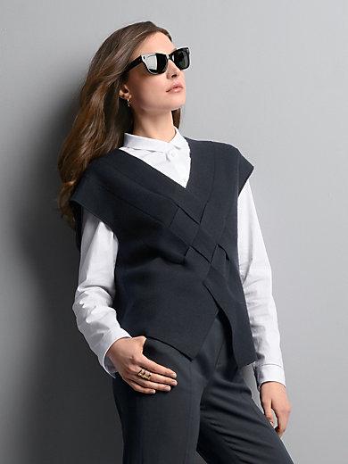 Strenesse - V-Pullover aus 100% 100 % Schurwolle-Merino fein