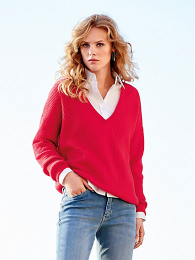 (THE MERCER) N.Y. - V-neck jumper in 100% cashmere