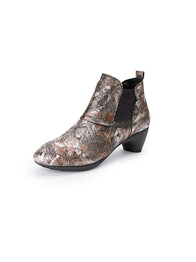 758378ced5 Think! - Ankle boots in 100% leather - multi-coloured-metallic