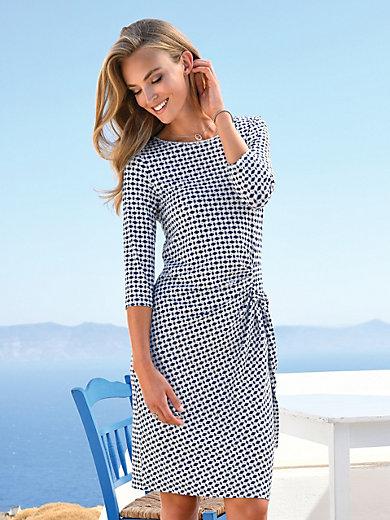 56e26c2b9024 Uta Raasch - Jerseyklänning med 3 4-ärm - blå vit