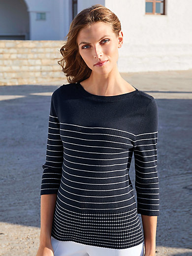 Uta Raasch - Jumper with ribbed boat neckline