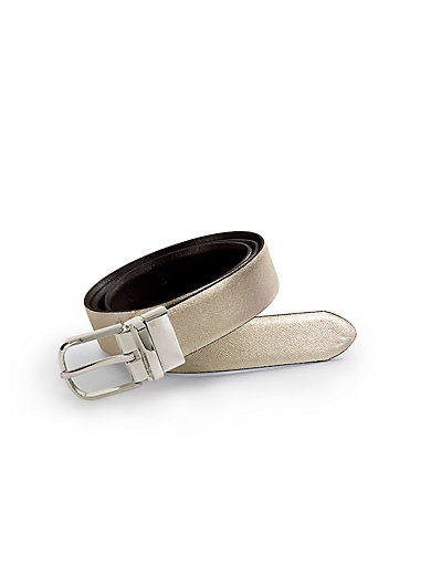 Uta Raasch - La ceinture réversible en cuir - or noir 70a19ab8317