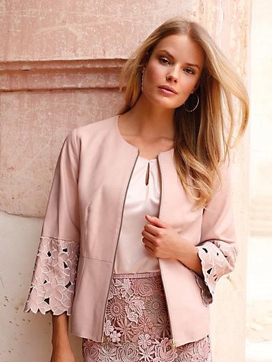 Uta Raasch - La veste en cuir nappa brodé, ligne courte