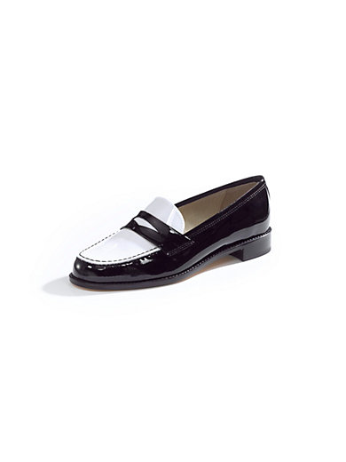 Uta Raasch - Patent calfskin leather two-tone slip-ons