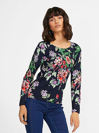 Uta Raasch - Rundhals-Pullover mit Blüten-Print
