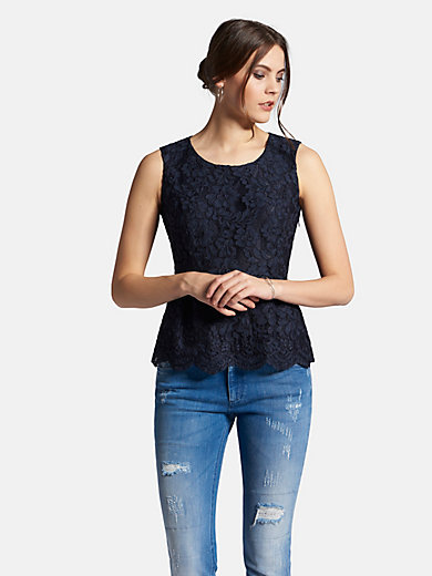 Uta Raasch - Sleeveless lace top with round neckline