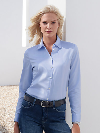 van Laack - Crease-resistant blouse with a shirt collar