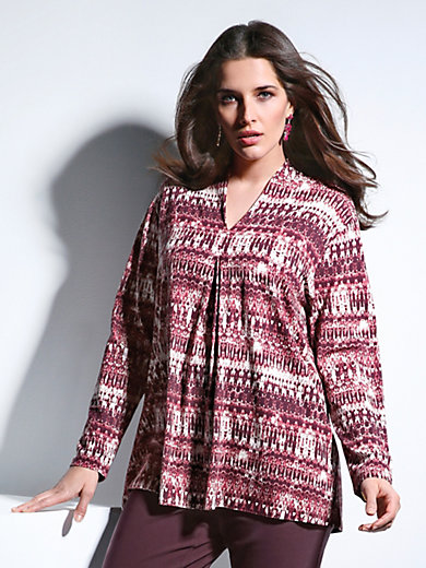 Via Appia Due - V neck top in an ethno style