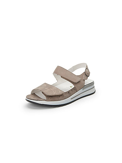 Kalisha sandals in 100% leather Waldläufer beige Waldläufer K3Q6JhfJWb
