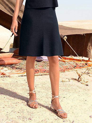 Windsor - La jupe en pure laine, ligne trapèze