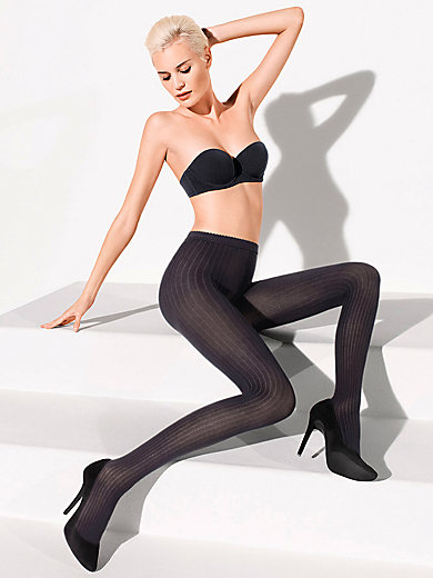 "Wolford - Feinstrumpfhose ""Fine Cotton Rib Tights"""