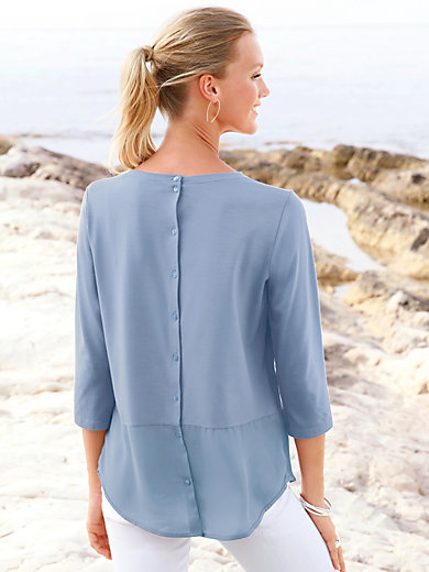 ZAIDA - Top with 3/4-length sleeves and boat neck