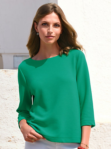ZAIDA - Top with boat neckline and 3/4-length sleeves