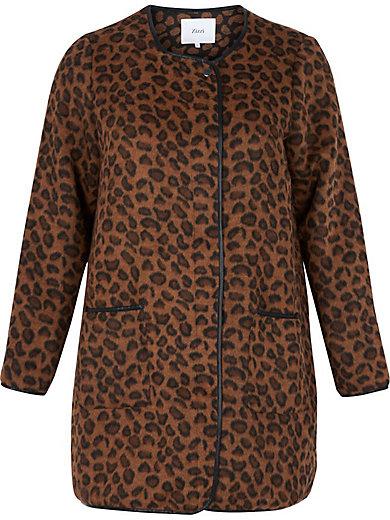 zizzi - Kurzmantel mit Leopardenmuster