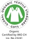 GOTS (Organic Certified by IMO CH Lic. No 23241) - Environmentally and socially responsible textile manufacturing
